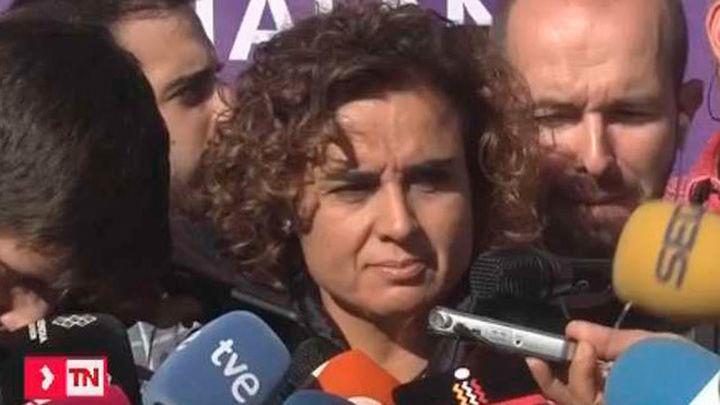 """Montserrat espera que los funcionarios de  la Generalitat """"estarán al lado de la ley"""""""