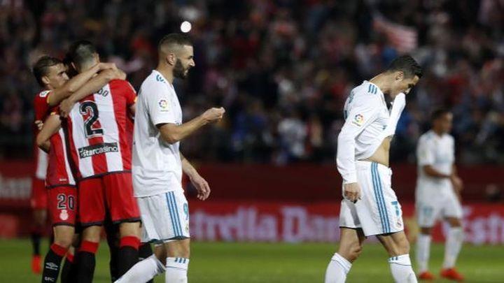 2-1. El Girona tumba a un Real Madrid desconectado y sin actitud
