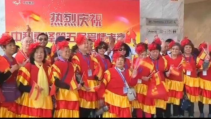 Mil parejas de ciudadanos chinos celebran juntos en Madrid sus Bodas de Oro