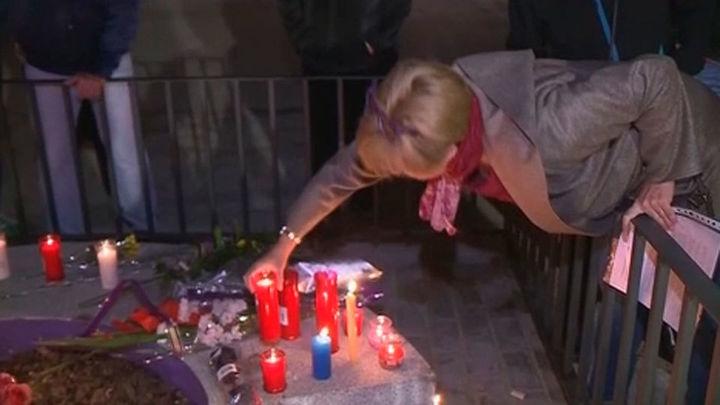 Vigilia en recuerdo de las jóvenes muertas en el Madrid Arena