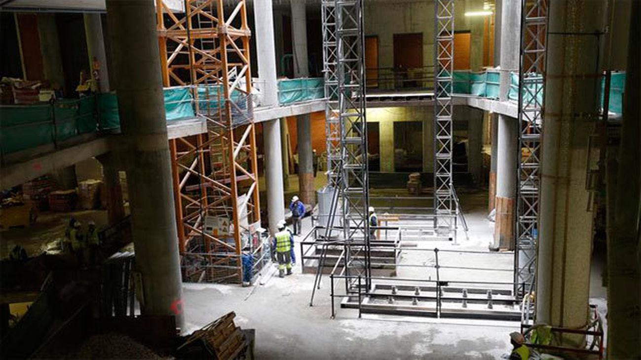 Interior en obras del nuevo Centro Canalejas, junto a la Puerta del Sol