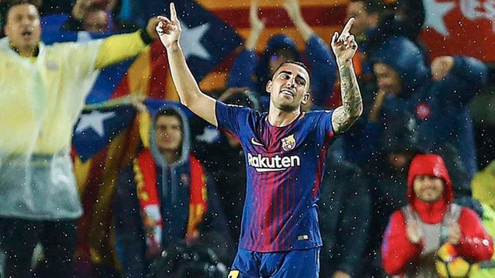 2-1. Un doblete de Alcácer salva al Barça ante el Sevilla