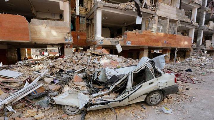 Aumentan a 530 los fallecidos en el terremoto en Irán