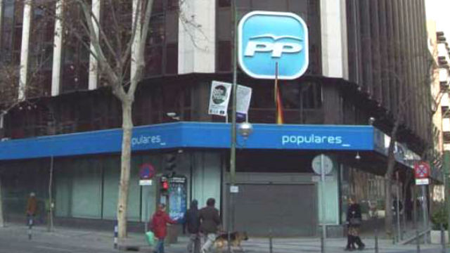 Sede del PP en la calle de Génova