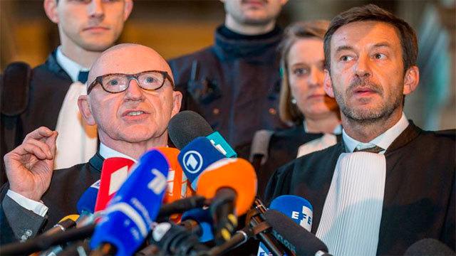 Paul Bekaert,abogado de Puigdemont y Christophe Marchand,letrado de Meritxell Serret