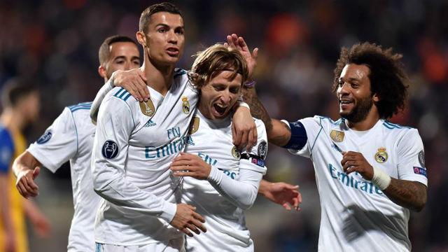 Cristiano Ronakldo, Modric y Marcelo