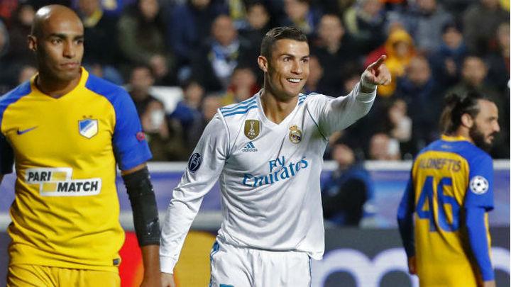 Cristiano alcanza los 100 goles en Europa con el Real Madrid