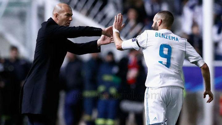 """Zidane: """"Sabíamos que los goles de Benzema y Cristiano iban a llegar"""""""