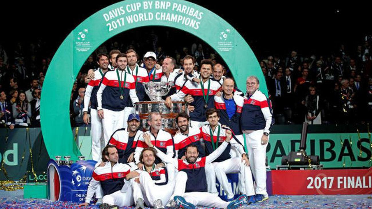 Francia conquista su décima Copa Davis