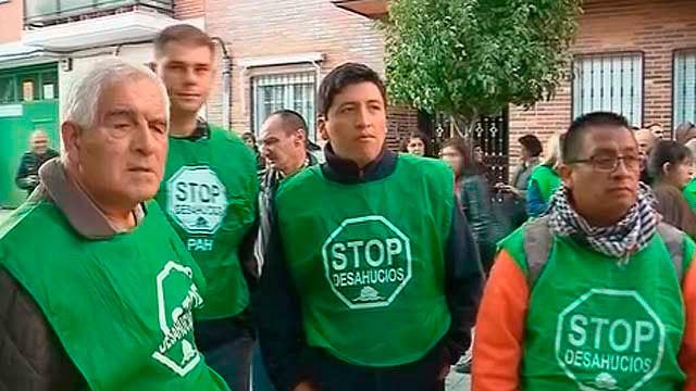 Activistas de Stop Desahucios