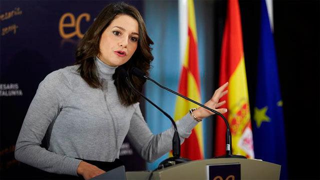 La candidata de Ciudadanos a la presidencia de la Generalitat, Inés Arrimadas