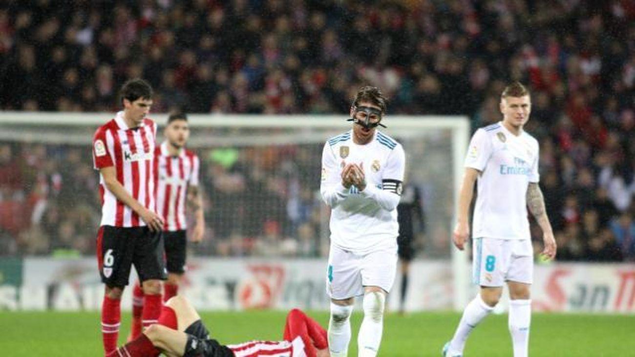 Sergio Ramos ante el Ath. Bilbao