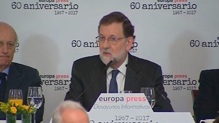 """Rajoy espera el esfuerzo de """"todos"""" para recobrar la confianza en Cataluña"""