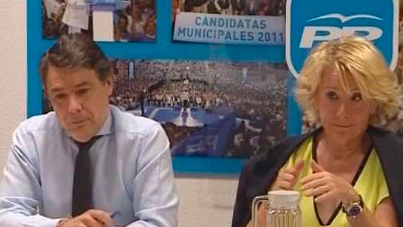 González apunta a Aguirre en la financiación ilegal del PP de Madrid