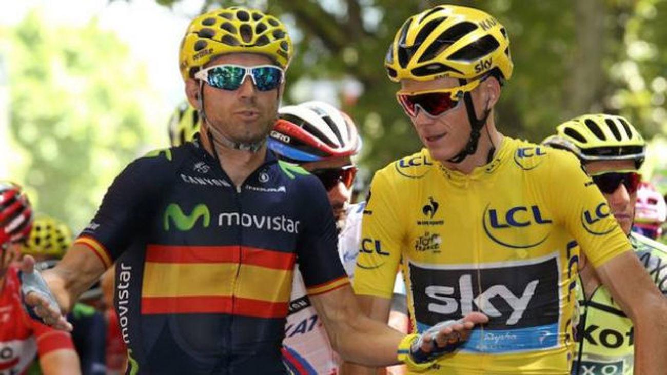Alejandro Valverde y Froome