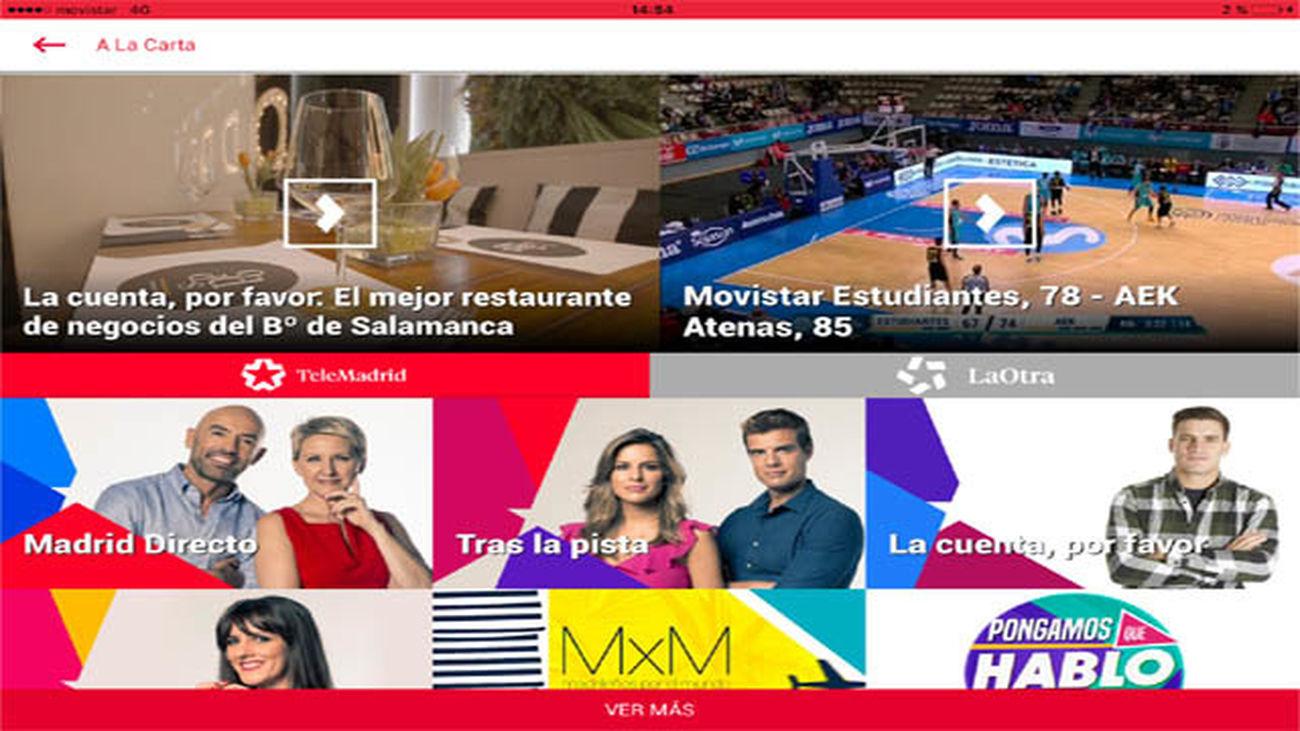 Telemadrid renueva su 'app' para ofrecer todo su contenido a través de móviles y tabletas