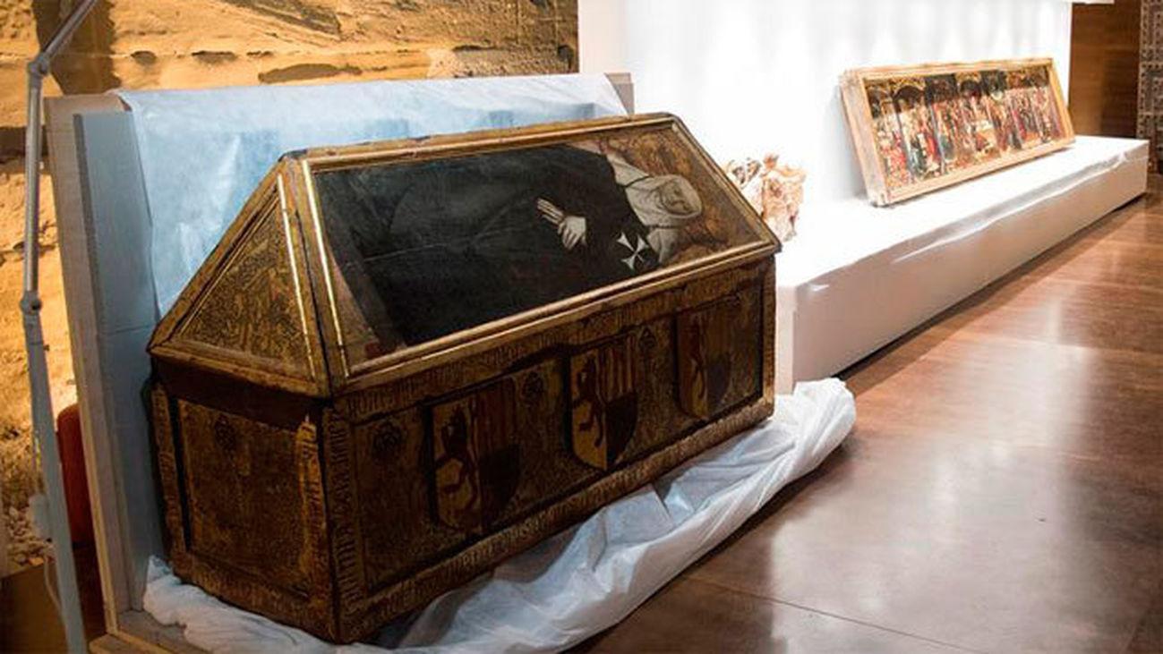Algunos de los bienes que han sido trasladados desde el Museo de Lérida hasta el Monasterio de Sijena