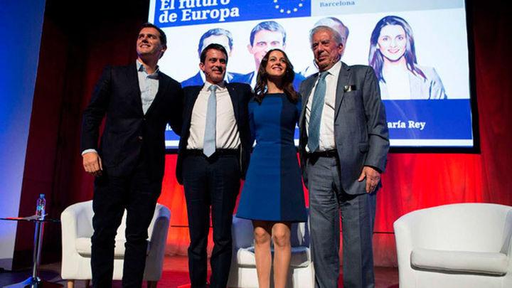 Manuel Valls y Vargas Llosa postulan a Arrimadas como presidenta