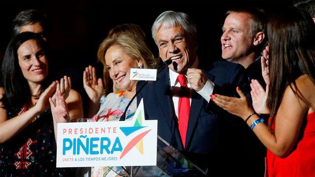 El presidente electo de la coalición Chile Vamos, Sebastián Piñera