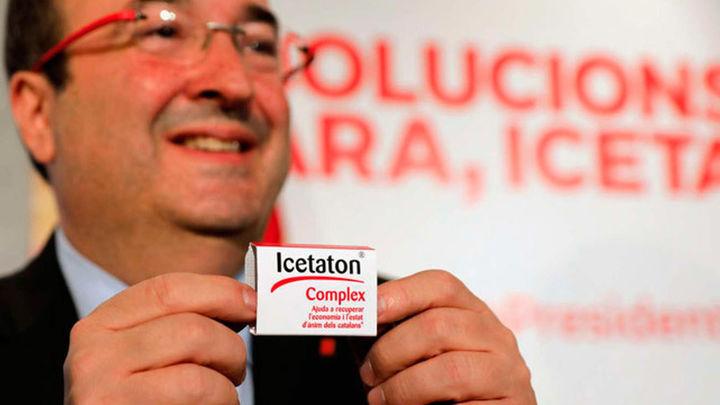 Iceta lanza pastillas 'Icetaton' para recuperar la economía y el ánimo de catalanes