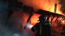 Un incendio destruye el antiguo restaurante Guipúzcoa de la Casa de Campo