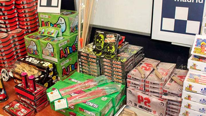 Incautados 66.209 petardos en mal estado y de venta ilegal en Vallecas