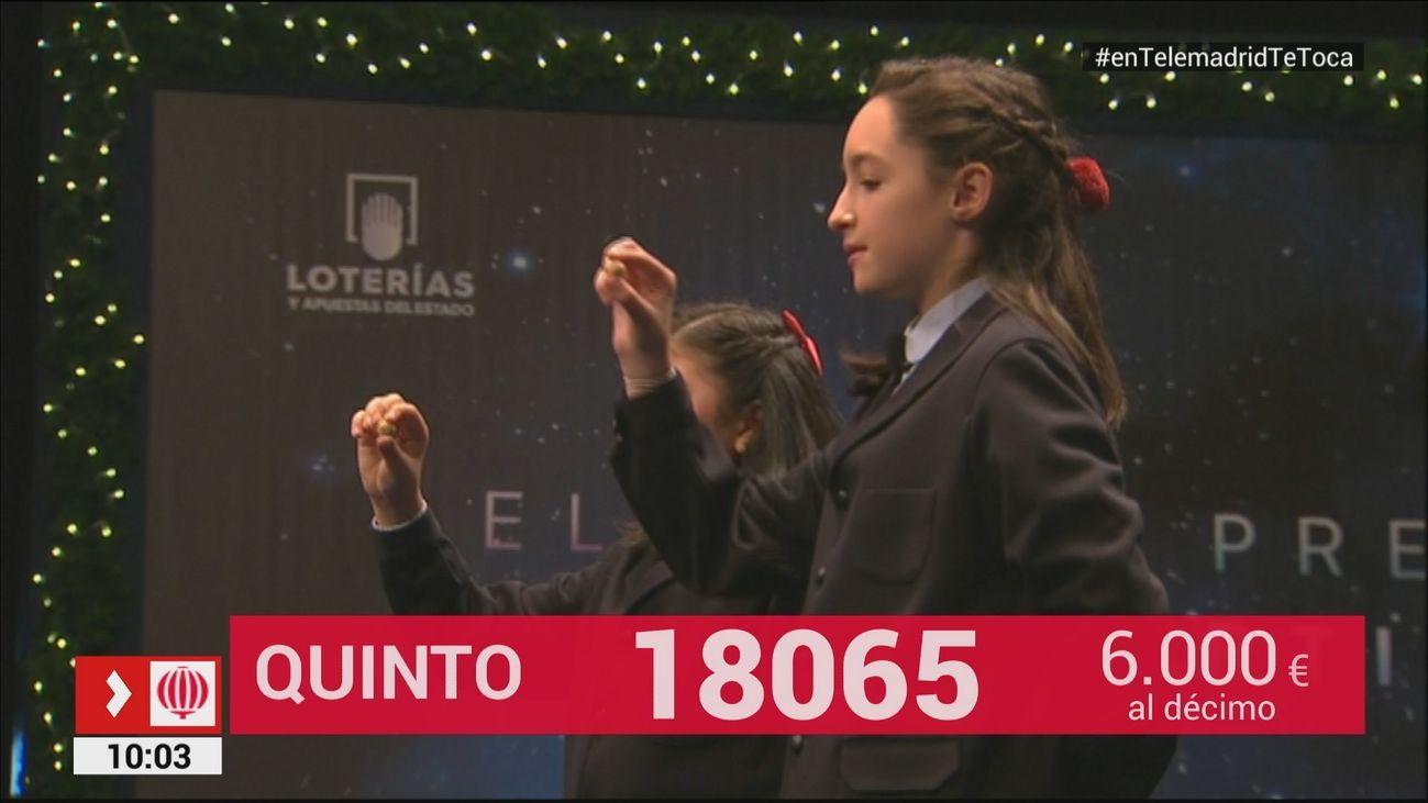 18065, video del quinto premio del Sorteo de Lotería de Navidad 2017
