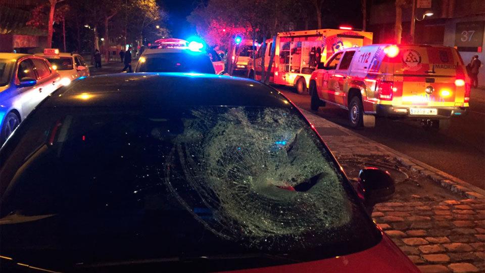 Un hombre en estado grave al ser atropellado durante una pelea en Madrid