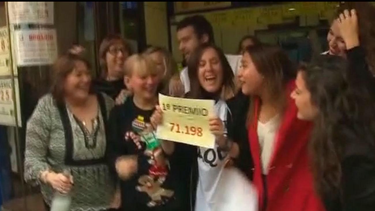 El Gordo de Navidad, el 71.198 cae también en Madrid
