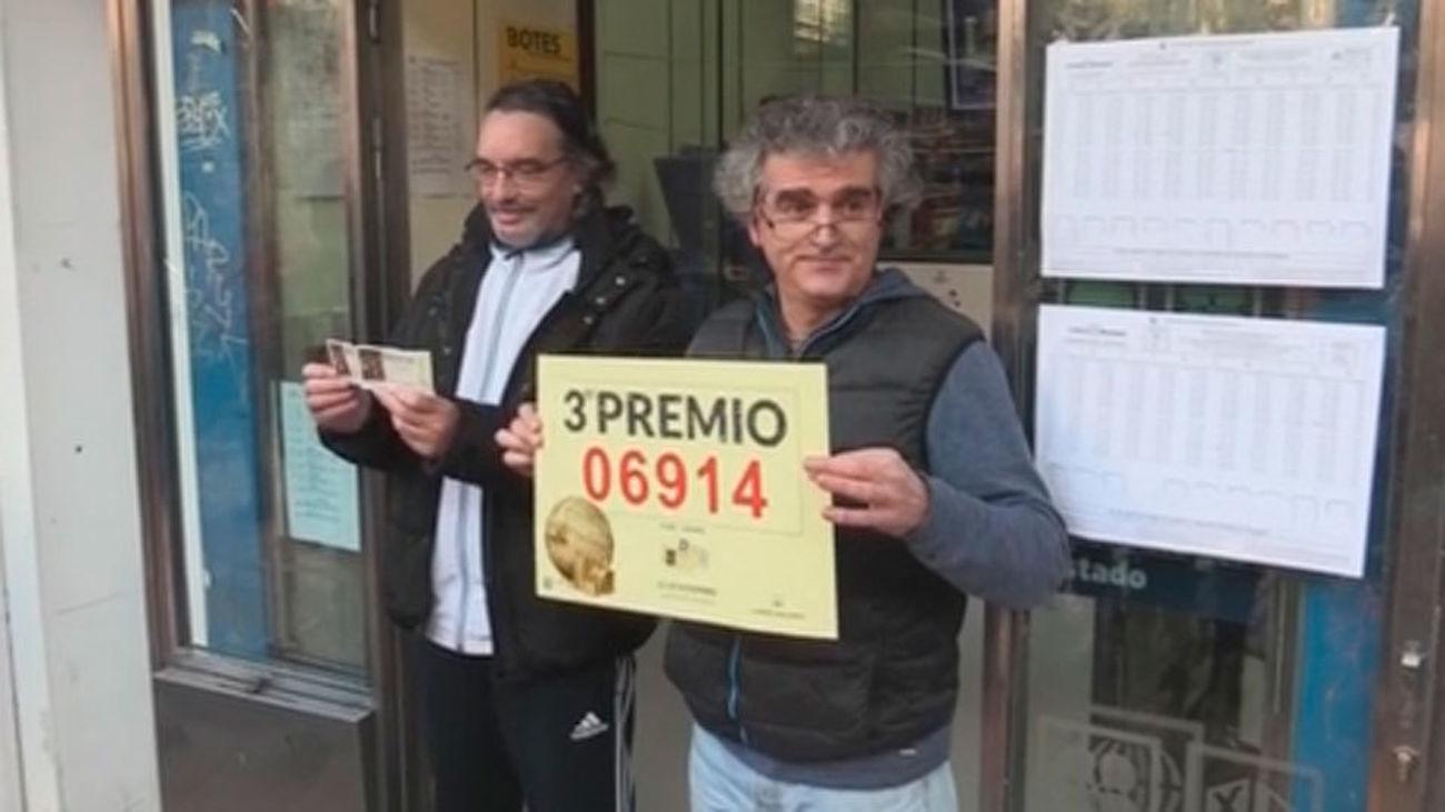 El tercer premio de la Lotería de Navidad, el 06914, va a parar a Madrid y Barcelona
