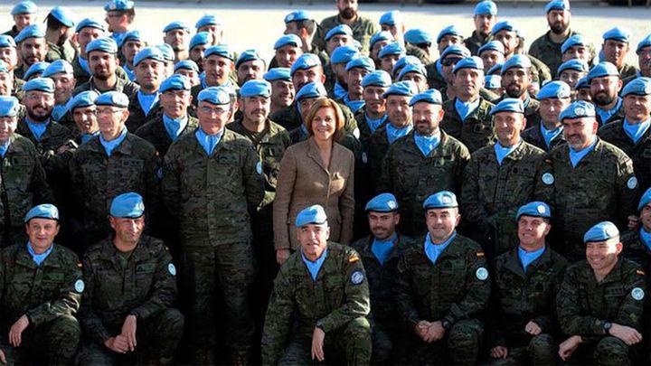 """Cospedal en Líbano: """"No hay ningún descanso en la lucha contra el terrorismo"""""""