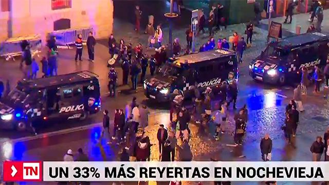 Un 33% más de reyertas en la noche de Año Nuevo en la Comunidad de Madrid