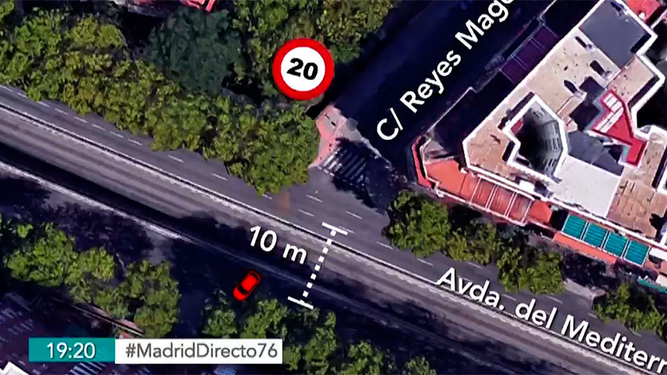 Testigos del espectacular accidente en la Avenida del Mediterráneo