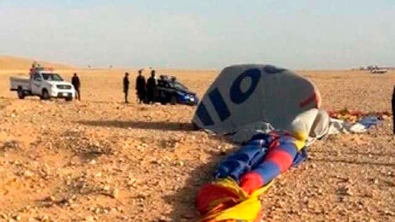 Una turista sudafricana muere y12 resultan heridos en un accidente de globo en Luxor
