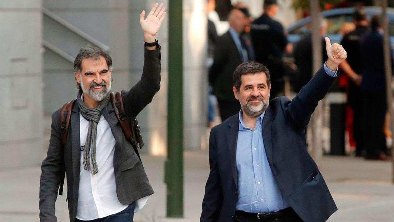 Forn y los Jordis comparecen ante el Supremo y piden su libertad
