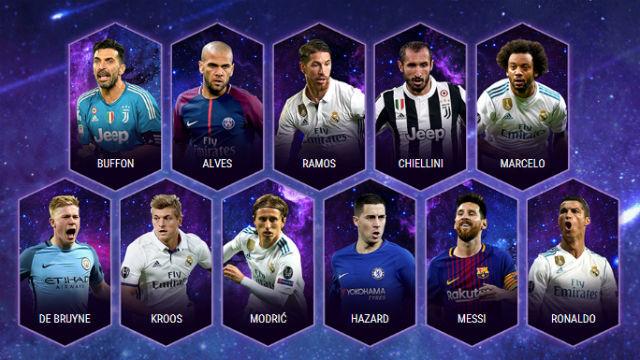 Once ideal de la UEFA 2017