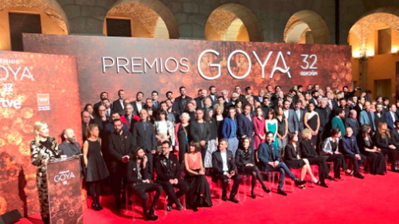 Cifuentes recibe a los nominados a los premios Goya