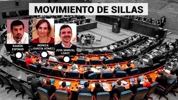 José Manuel López vuelve a la primera fila de la bancada de Podemos