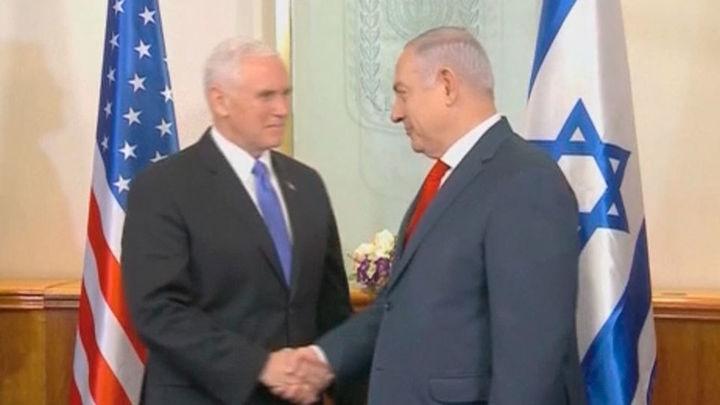 Pence anuncia la apertura de la embajada de EEUU en Jerusalén antes de 2020