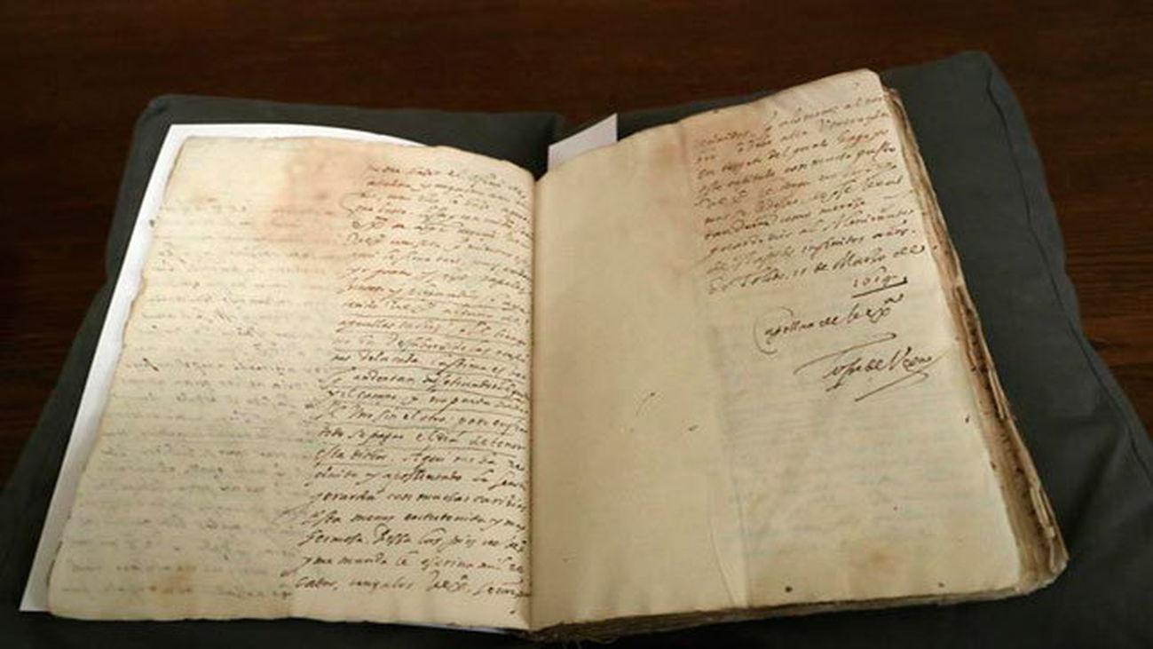 Epistolario manuscrito entre Lope de Vega  y el Duque de Sessa