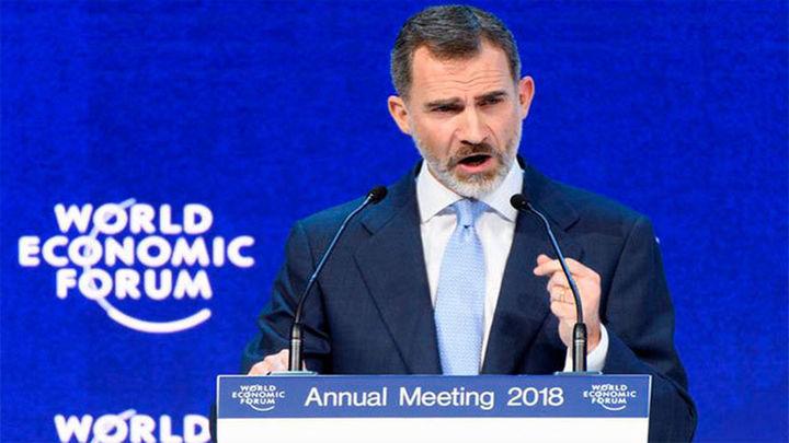 """El Rey en Davos: """"La Constitución no es un mero ornamento, sino el pilar de la coexistencia democrática"""""""