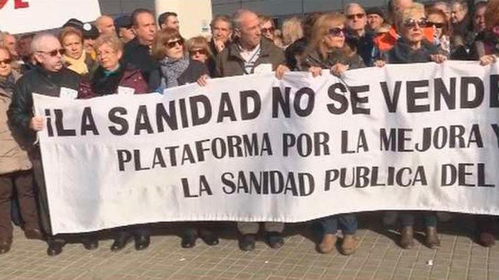 """Protesta por """"el  colapso"""" de las Urgencias del Hospital del Henares"""