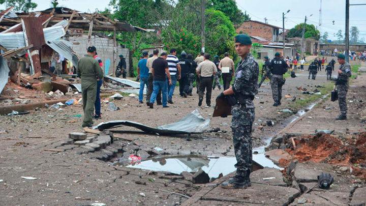 28 heridos leves en un atentado con 'coche bomba' en Ecuador