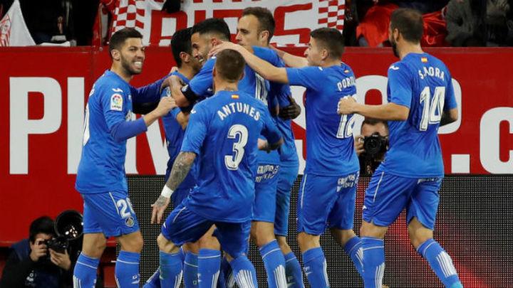 1-1. El Getafe arranca un empate en la prolongación y deja frío al Sevilla