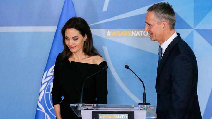 Angelina Jolie se alía con la OTAN contra la violencia sexual en la guerra