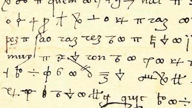 Muestra del código utilizado en las cartas de Fernando el Católico al Gran Capitán