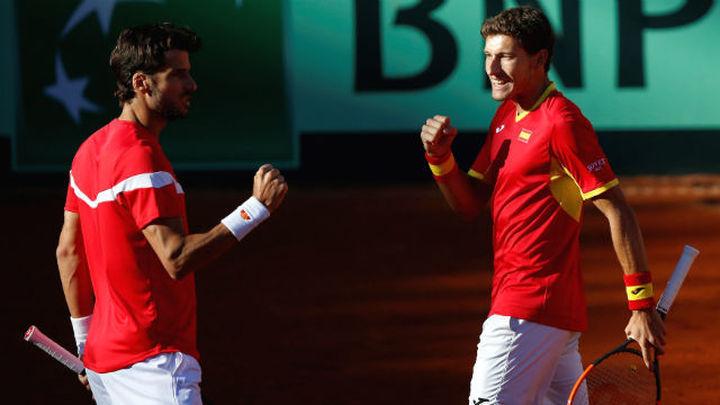 Copa Davis. El doble lleva a España a tocar los cuartos de final (2-1)