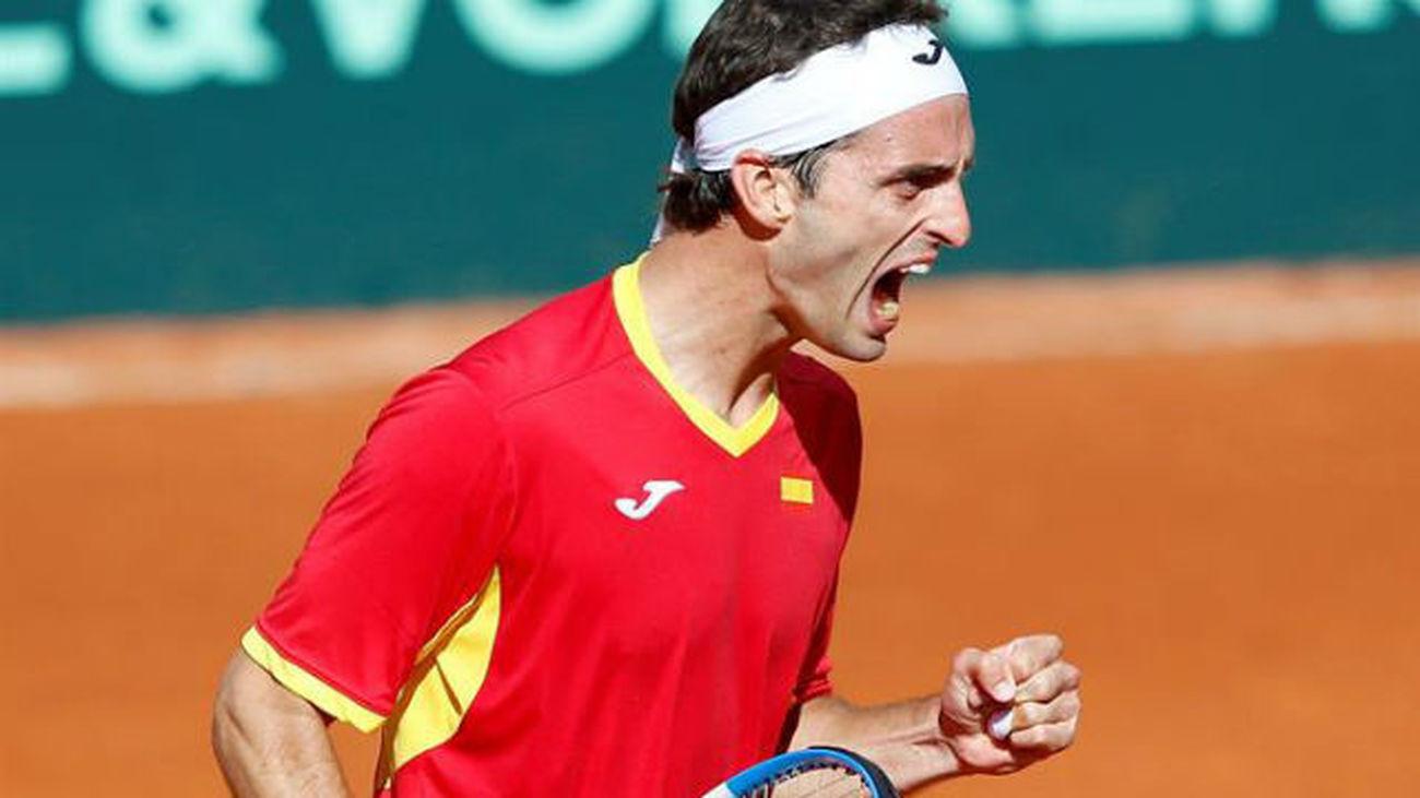 España se mete en cuartos de la Copa Davis (3-1)
