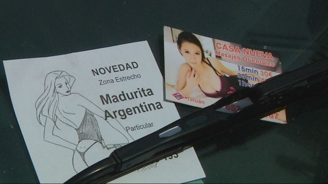 Flyers prostitución en Madrid