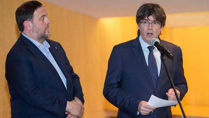 Junqueras ve inviable la presidencia efectiva de Puigdemont pero JxCat no cede